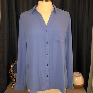 The Limited Light blue button down size L